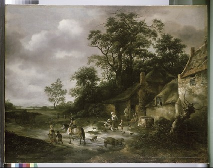 Landscape with Cottages and Peasants