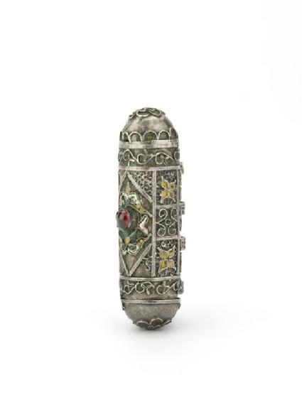 Silver amulet case