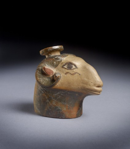 East Greek aryballos in the shape of a ram's head