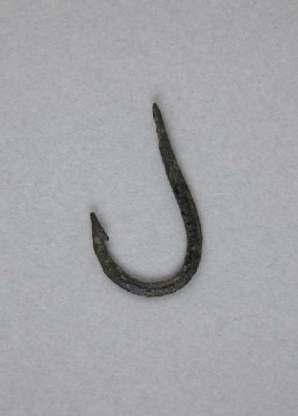 Barbed bronze fish hook