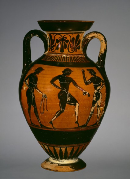 Attic black-figure pottery amphora of Panathenaic shape