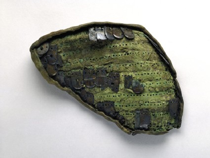 Bronze scale armour fragments