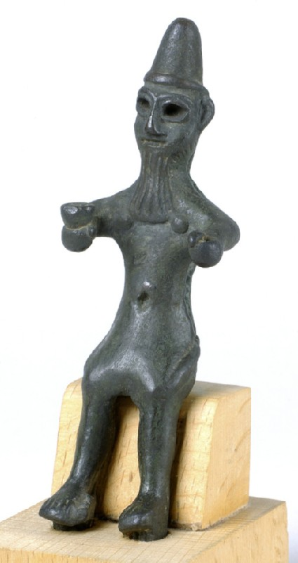 Seated figure of the god Madod