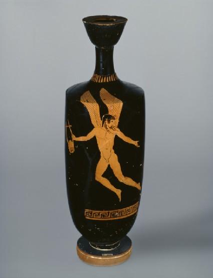 Attic red-figure lekythos depicting a mythological figure