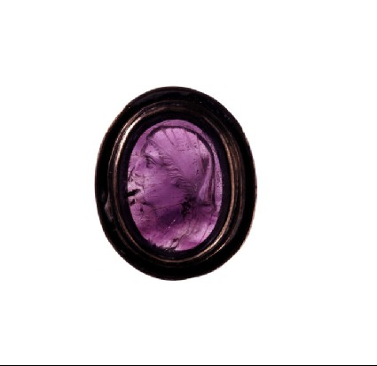 Ringstone, bust of woman wearing veil, Arsinoe
