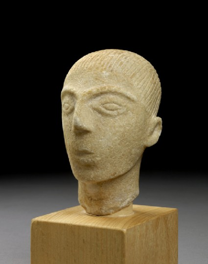 Head of a Cycladic figurine