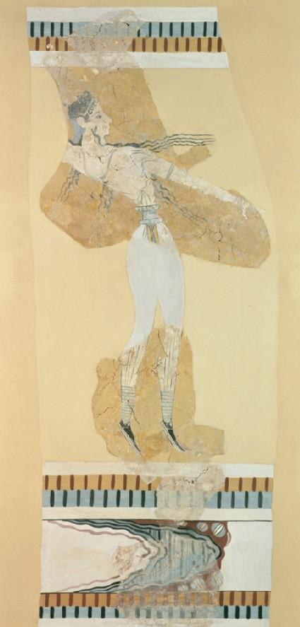 Fresco fragment of a bull-leaper