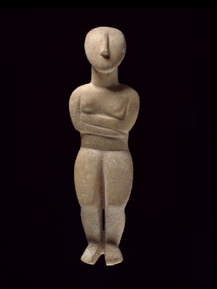 Cycladic female figurine (Spedos type)