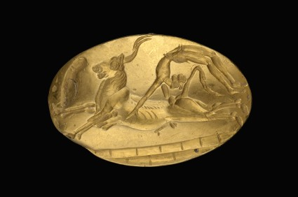 Signet ring showing bull-leaping scene