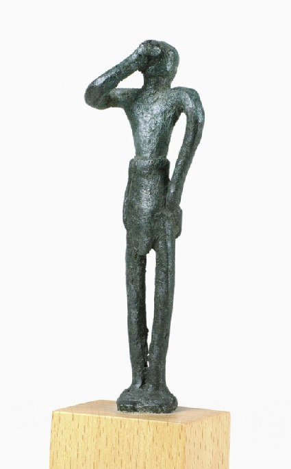 Minoan bronze figurine of male votary