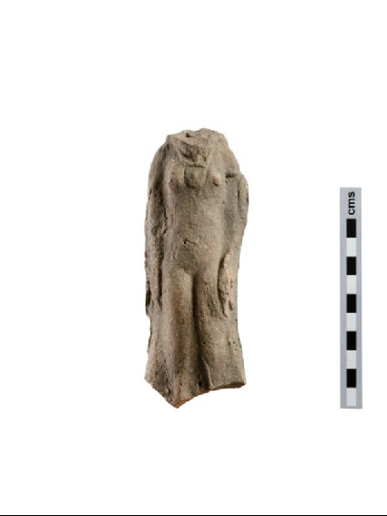 Fragmentary terracotta figurine of naked female (Astarte figurine)
