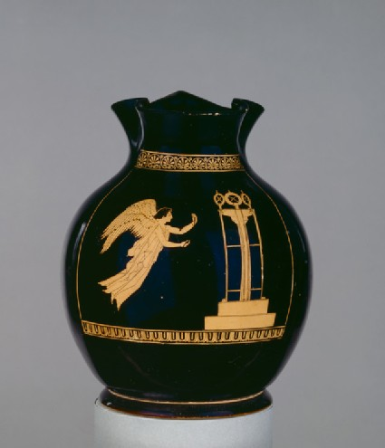 Attic red-figure pottery jug depicting Nike