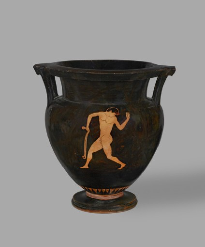 Attic red-figure pottery krater depicting an athletics scene