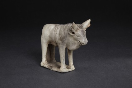 Terracotta figurine of a bull