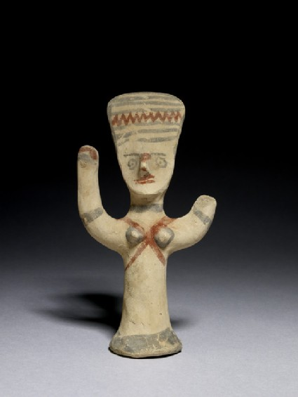Figurine of goddess with uplifted arms