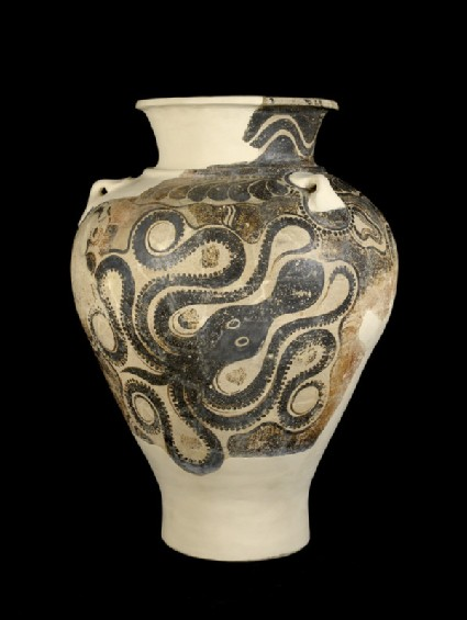 Jar with octopus motif