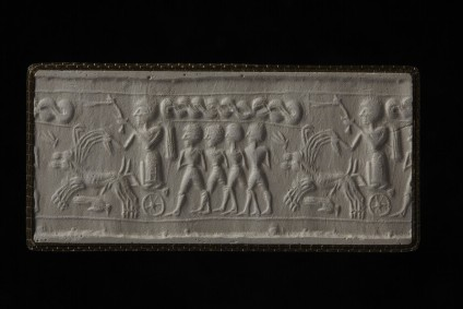 Cylinder seal with chariot scene