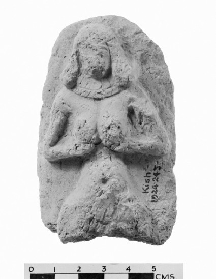 Plaque with a female figurine
