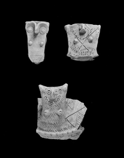 Fragment of a jar shoulder incorporating hollow anthropomorphic handle