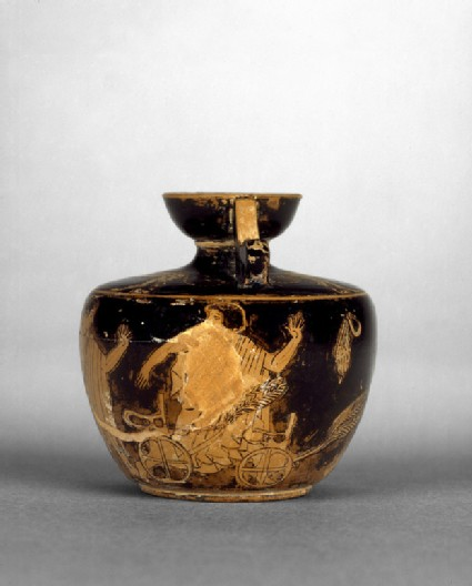 Attic red-figure pottery unguent jar