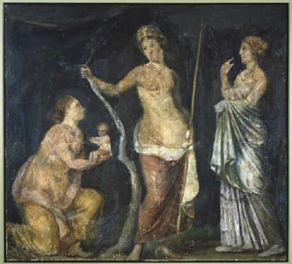 Fresco of the birth of Adonis