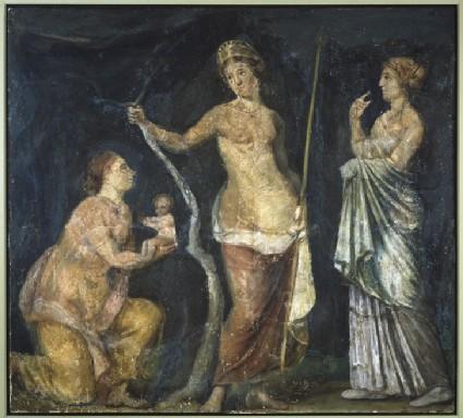 Fresco of the birth of Adonis