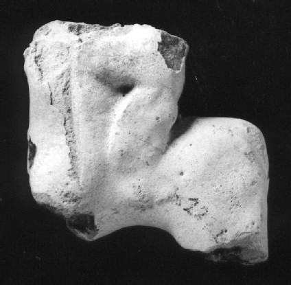 Headless and legless horse figurine with headless rider