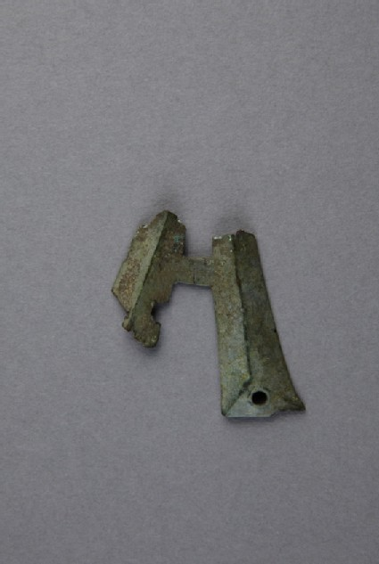 Bronze letter, fragment of letter A
