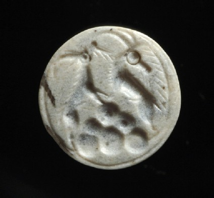 Loop signet seal with wild goats on a rocky landscape