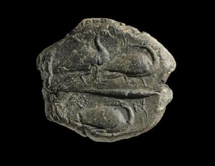 Clay sealing depicting water fowl