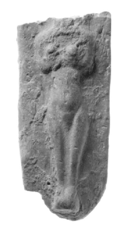Plaque figurine, nude female in relief