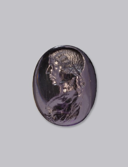 Amethyst engraved intaglio gem, perhaps with the younger Antonia