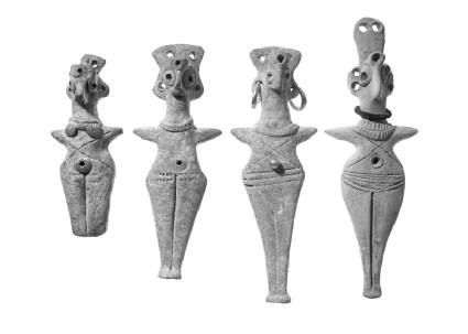 Female figurine with bird-head