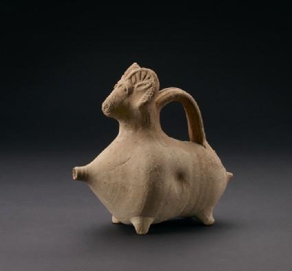 Plain White ram-headed vessel, or askos