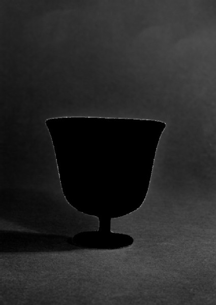 Glass stemmed tulip-shaped goblet, so-called wine cup