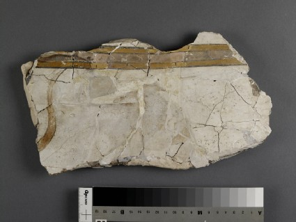 Fragment of painted stucco