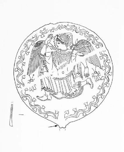 Etruscan bronze mirror