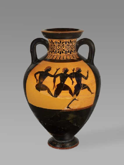 Attic black-figure pottery Panathenaic amphora