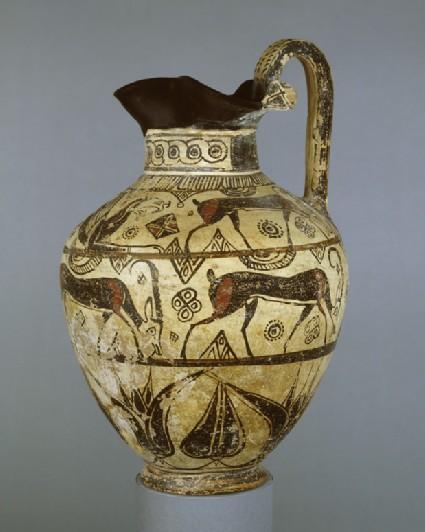 East Greek (Rhodian) oinochoe, Wild Goat style