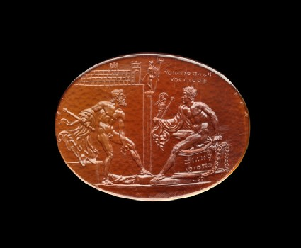 Felix gem with scenes from the Trojan Wars, Diomedes, and Odysseus