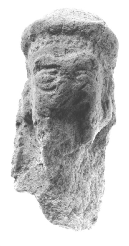 Figurine of a male head