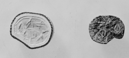 Scarab seal inscribed in Cypro-Syllabic