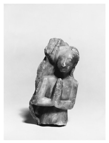 Alabaster table fragment in the form of a naked female