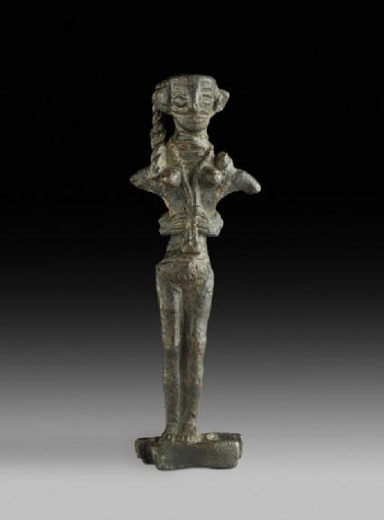 Copper figurine of Astarte on an ingot