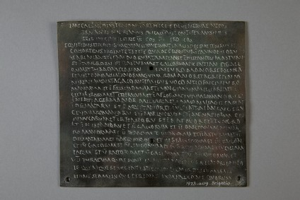 Electrotype copy of a diploma with Greek inscription