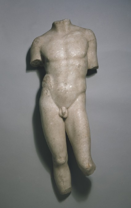 Marble torso of male youth