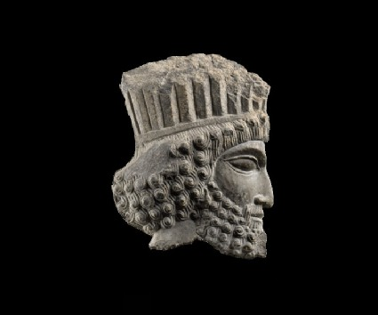 Sculpture of the head of a Persian