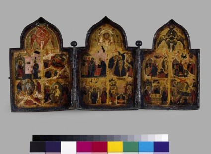 Icon triptych of The Twelve Feasts of the Church