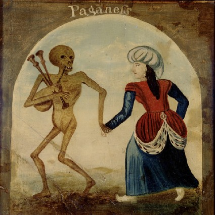 Death leading a pagan woman