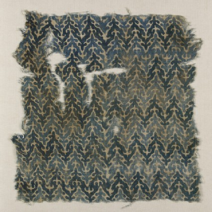 Textile fragment with check pattern
